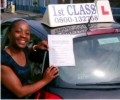 Cleopatra with Driving test pass certificate