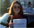 Isabelle with Driving test pass certificate