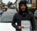 Yogendra with Driving test pass certificate