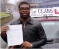 Ade with Driving test pass certificate