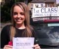 Gemma with Driving test pass certificate