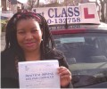 Inviolata with Driving test pass certificate