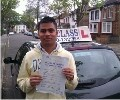 Jhiral with Driving test pass certificate