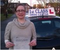 Katie with Driving test pass certificate