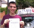 Oreon with Driving test pass certificate
