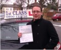 Pete with Driving test pass certificate