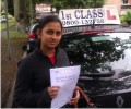Ramye with Driving test pass certificate