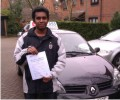 Rukshan with Driving test pass certificate