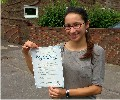 Aline with Driving test pass certificate