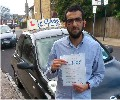 Bilal with Driving test pass certificate