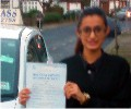 Krishna with Driving test pass certificate