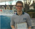 William with Driving test pass certificate