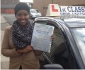 Luul with Driving test pass certificate