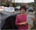 Ryan with Driving test pass certificate