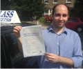 Segio with Driving test pass certificate