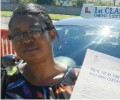Ngozi with Driving test pass certificate