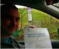Scott with Driving test pass certificate