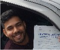 Gaj with Driving test pass certificate