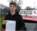BenM with Driving test pass certificate