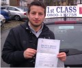 Fluturin with Driving test pass certificate