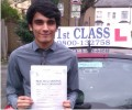 Hazik with Driving test pass certificate