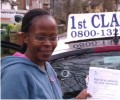 Julia with Driving test pass certificate
