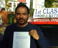 Jusimin with Driving test pass certificate