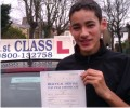 Kieran with Driving test pass certificate