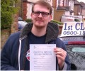 Mark with Driving test pass certificate