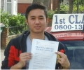 Pralad with Driving test pass certificate