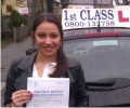 Rosia with Driving test pass certificate