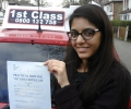 Xyna with Driving test pass certificate