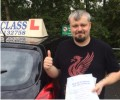 Bryn with Driving test pass certificate