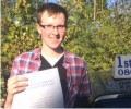 Dave with Driving test pass certificate