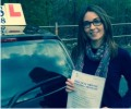 Sophie with Driving test pass certificate