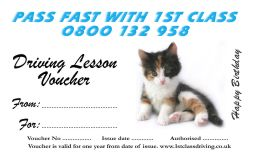 Birthday Voucher Kitten