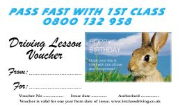 Birthday voucher Rabbit